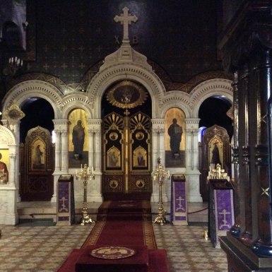 Iconostase, église russe de Genève
