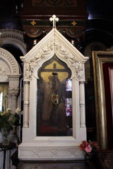 Encadrement d'icône, église russe de Genève
