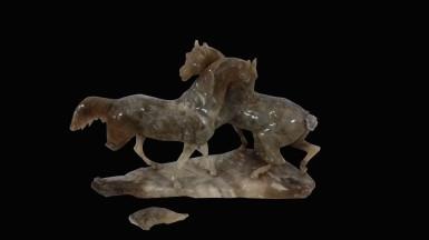 Couple de chevaux, collection particulière