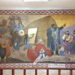 Fresque, après restauration.